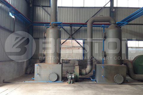 De-dusting System in Beston Waste Pyrolysis Plant for Sale