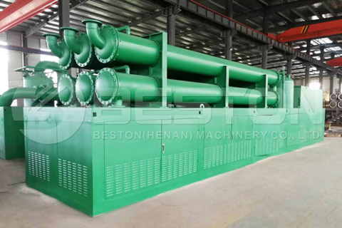 Integrated Condenser in Beston Waste Pyrolysis Plant