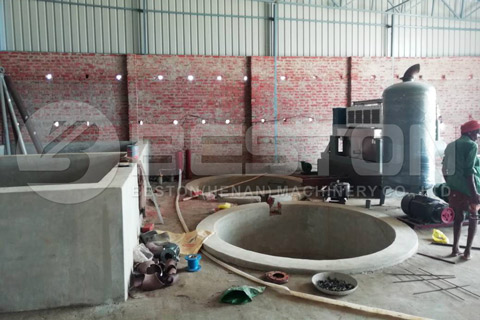 Installation of Paper Egg Tray Making Machine