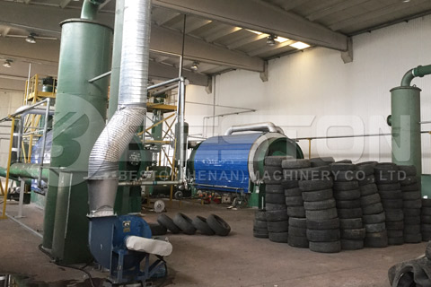 Normal Operation of Waste Tyre Pyrolysis Plant in Turkey