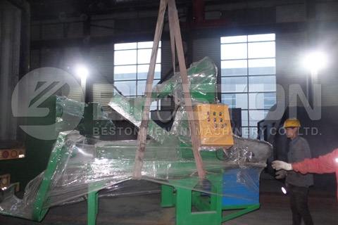 Shipment of Tire Recycling Plant
