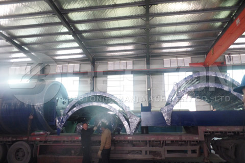 Shipment of Tyre Recycling Pyrolysis Plant