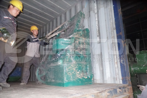 Shipment of Waste Tyre Recycling Plant