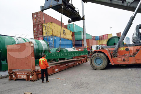 Shipment of Tyre Recycling Equipment to Canada