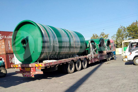 Waste Tire Recycling Equipment was Shipped to Canada