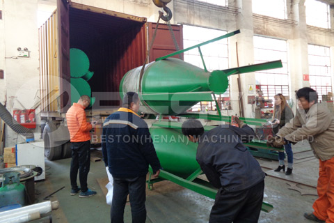 Coconut Shell Charcoal Machinery Shipped to Spain