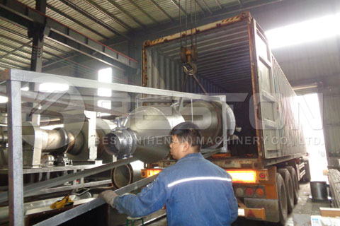 Palm Kernel Shell Charcoal Making Machine