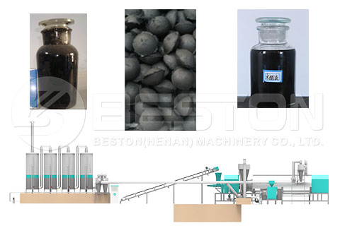 Final Products Got from Wood Charcoal Manufacturing Machine