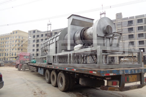 Shipment of Rice Husk Charcoal Machine to Ghana