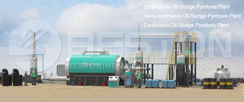 Waste Oil Sludge Pyrolysis Plant
