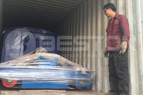 Shipment of Waste Recycling Equipment