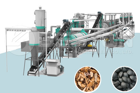 Beston Sawdust Charcoal Machine for Sale