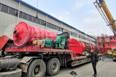 Shipment of BST-30 Sawdust Carbonizing Machine to Russia
