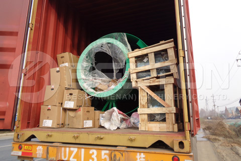 Shipment of BST-50 Sawdust Carbonization Machine to Spain