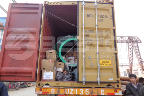 Shipment of Bamboo Charcoal Making Equipment