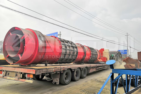 Shipment of Beston Palm Kernel Shell Charcoal Making Equipment to Russia