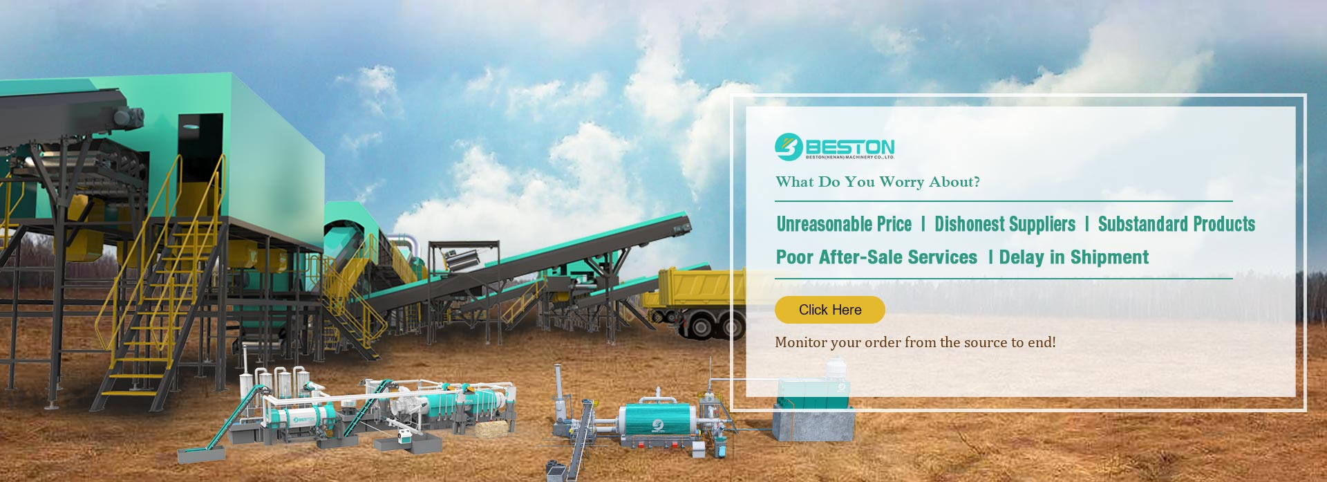 Beston Machinery mall banner