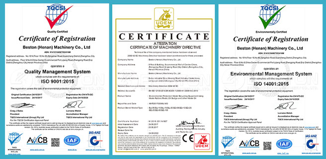 Certificates - Beston