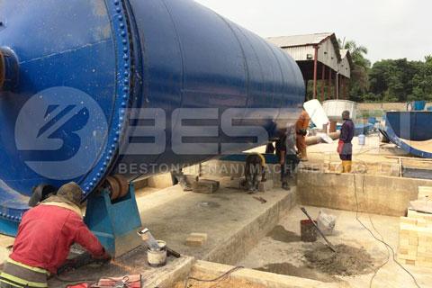 Oil Sludge Pyrolysis Machine in Nigeria