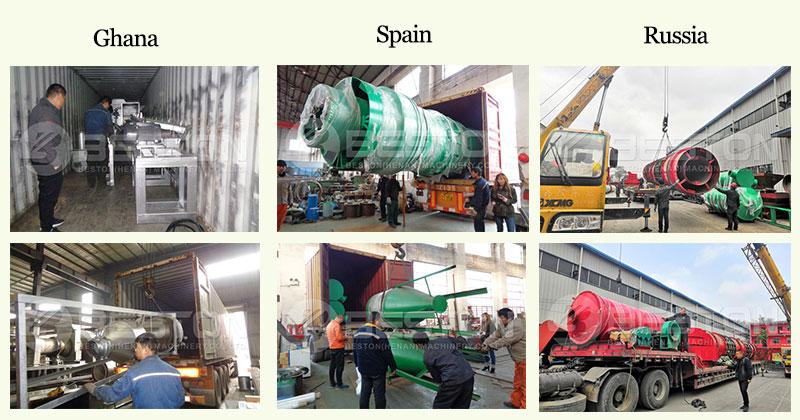 Shipment of Biochar Production Equipment