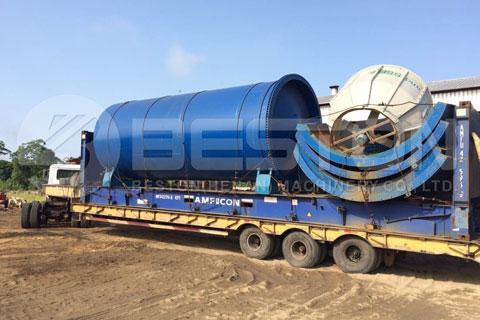 Shipment of Oil Sludge Pyrolysis Equipment