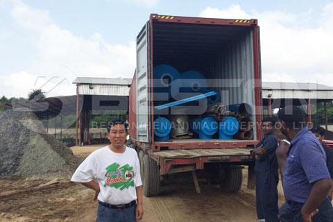 Shipment of Oil Sludge Pyrolysis Machine