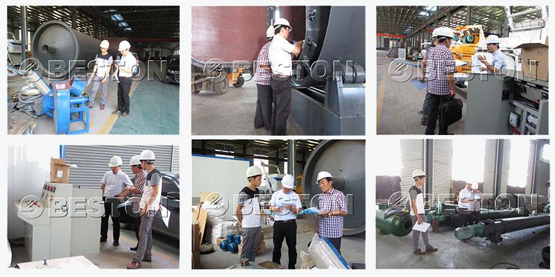 South Korean Customer Check Batch Pyrolysis Machine
