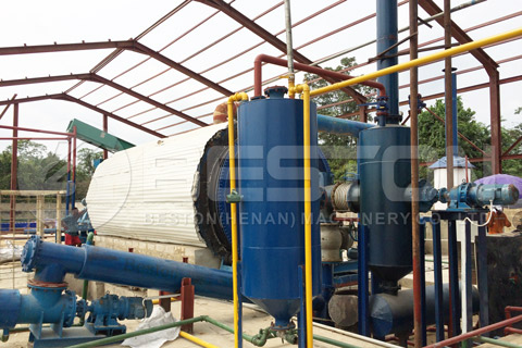 Waste Tyre Recycling Pyrolysis Plant Installed in Nigeria