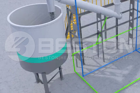 Carbon Black Tank in Continuous Pyrolysis Plant in India