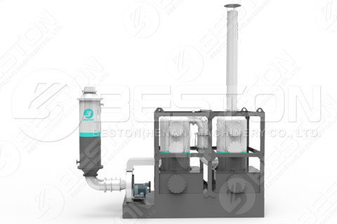 Dedusting Tower in Continuous Pyrolysis Plant in India