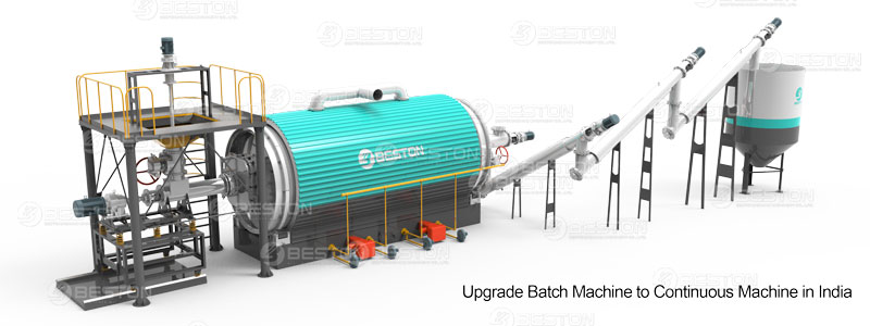 Upgrade Continuous Waste Tyre Pyrolysis Plant in India