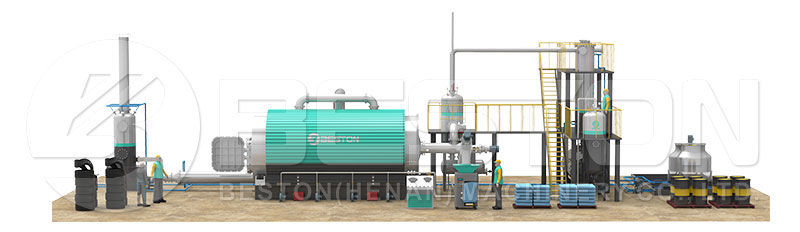 Affordable Tyre Pyrolysis Plant Cost from Beston Machinery