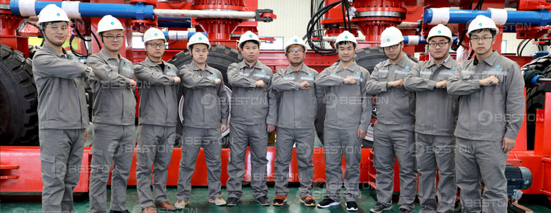 After-sales Service Group for Beston Paper Moulding Machine