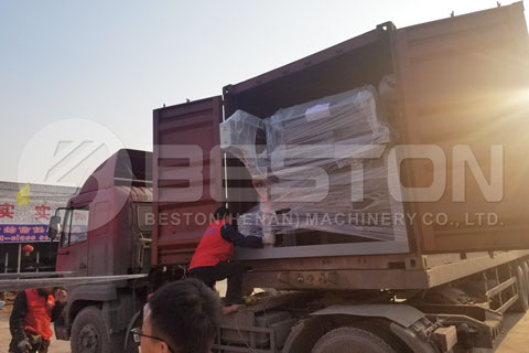 Delivery of Egg Tray Making Machineto Tanzania