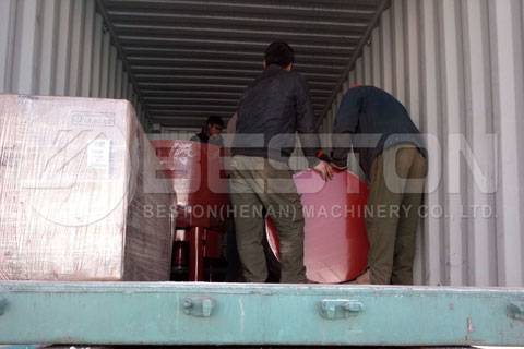 Shipment of Egg Tray Making Machine to Algeria