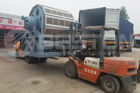 Shipment of Fully Automatic Egg Tray Making Machine