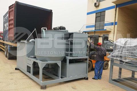 Beston Manual Egg Tray Machine Shipped to Algeria