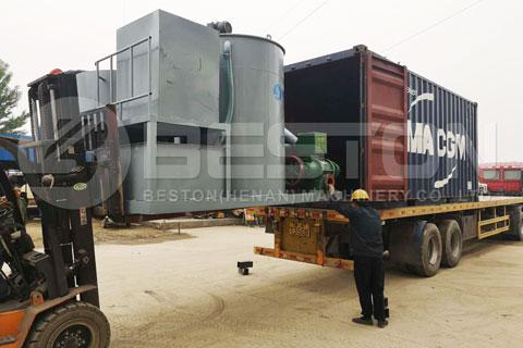 Shipment of Beston Manual Egg Tray Making Machine to Algeria