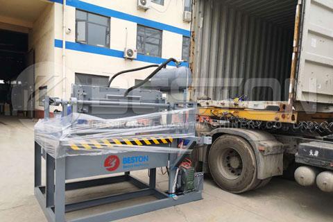 Shipment of Beston Small Egg Tray Making Machine