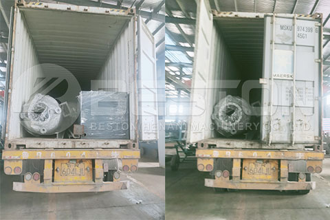 Transport of BLJ-10 Small Pyrolysis Machine to India