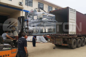 Transportation of Small Scale Egg Tray Machine to Colombia