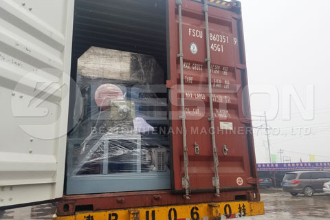 Shipment of BTF-4-8 Egg Tray Machine