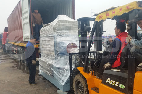 Shipment of Beston Egg Tray Equipment