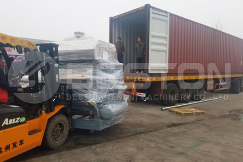 Shipment of Egg Tray Machine to Ivory Coast