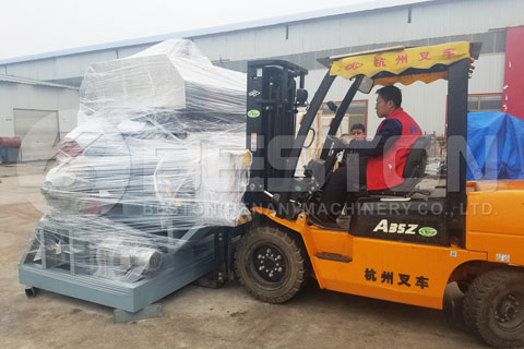 Shipment of Egg Tray Making Machine