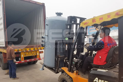 Shipment of Egg Tray Manufacturing Machine
