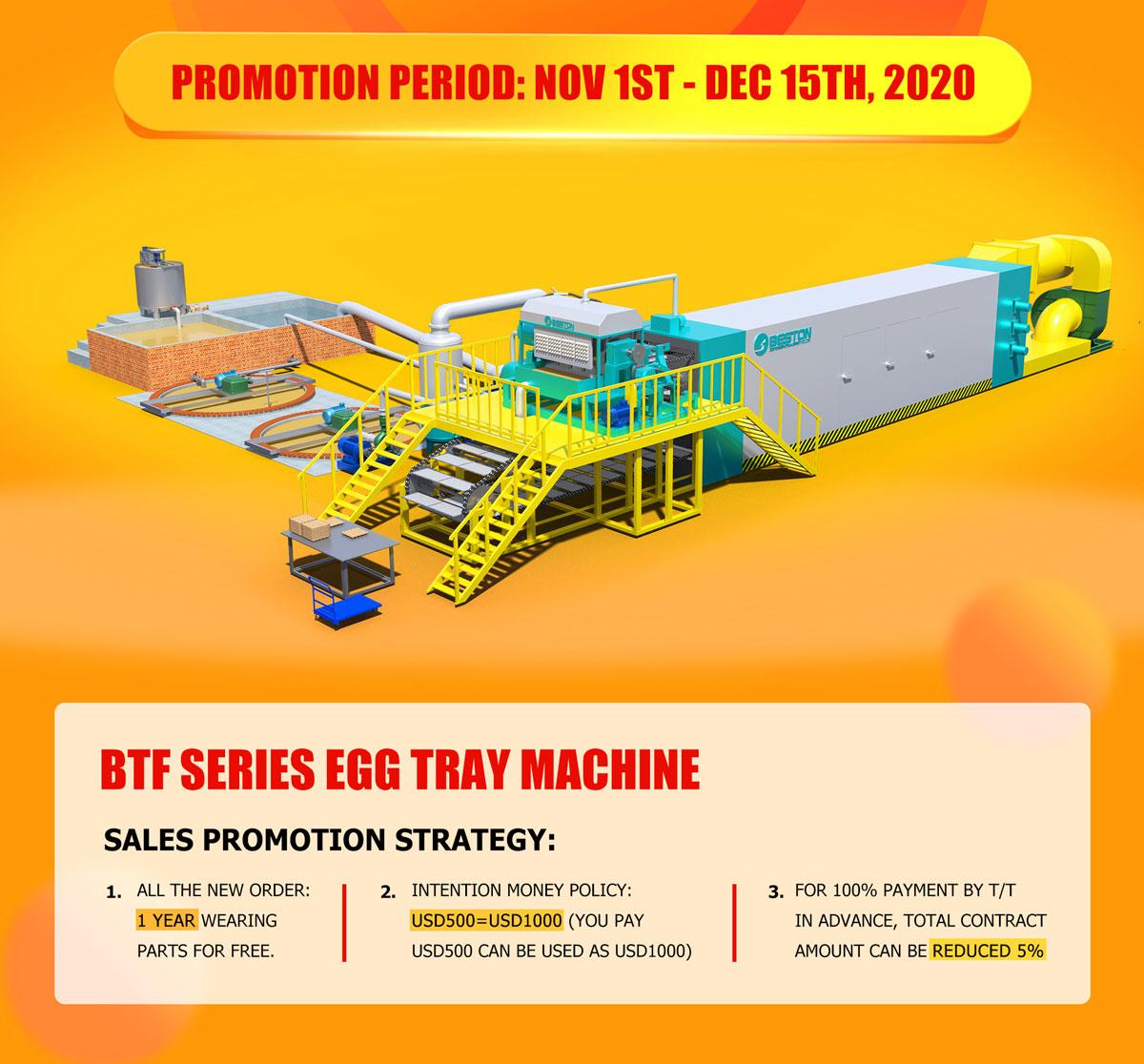 Beston Egg Tray Machine Promotion