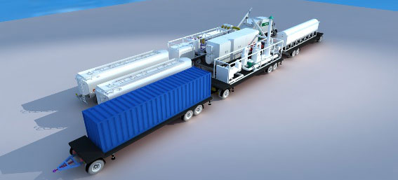 Movable Skid-Mounted TPyrolysis Plant