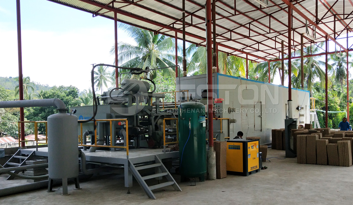 Installment of BTF-1-4 Beston Egg Tray Plant in the Philippines