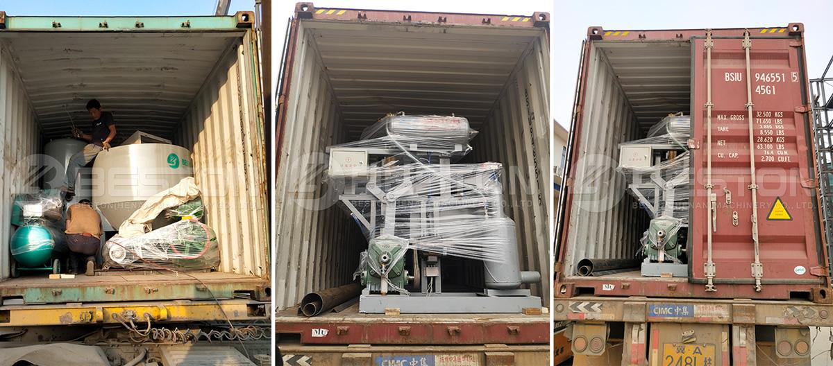 Shipment of Egg Carton Making Machine
